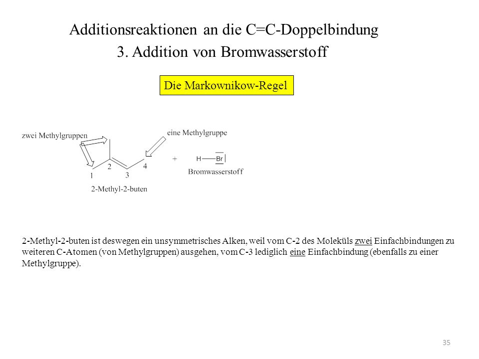 Additionsreaktionen an die C=C-Doppelbindung
