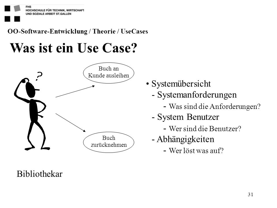 OO-Software-Entwicklung / Theorie / UseCases