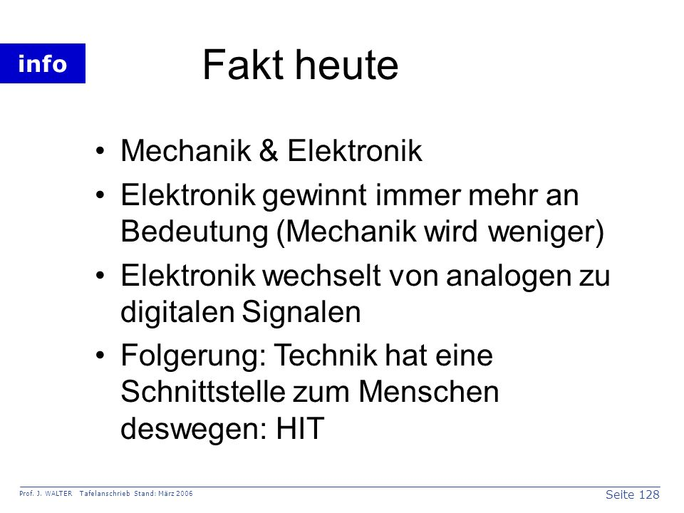 Fakt heute Mechanik & Elektronik