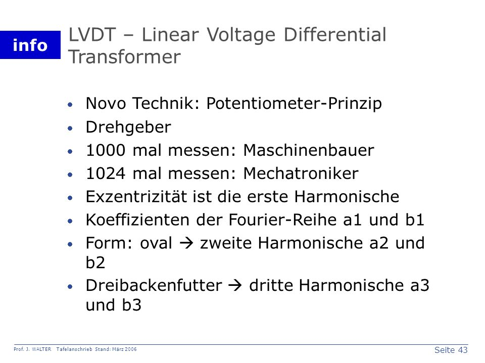 LVDT – Linear Voltage Differential Transformer