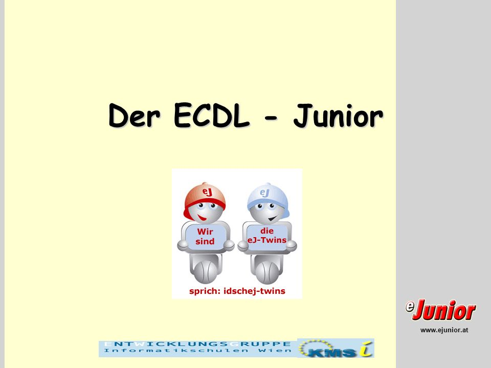 Der ECDL - Junior