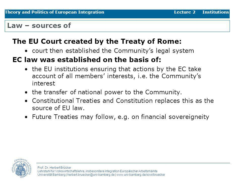 The EU Court created by the Treaty of Rome: