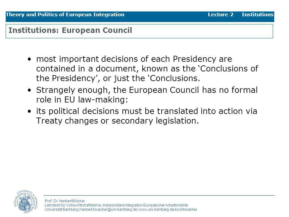 Institutions: European Council