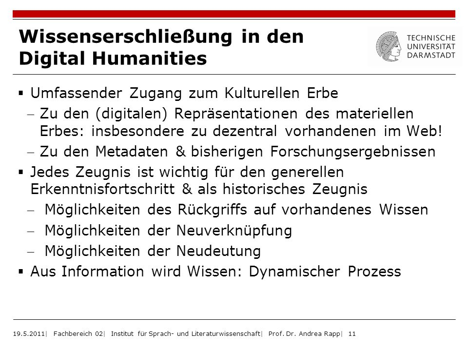 Wissenserschließung in den Digital Humanities