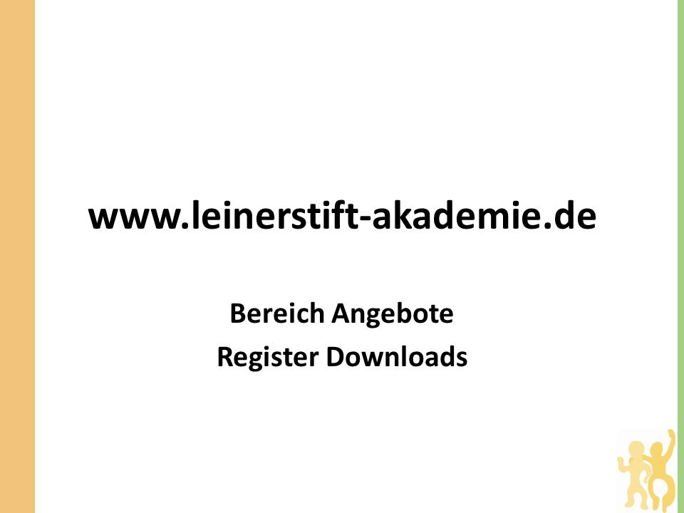 Bereich Angebote Register Downloads