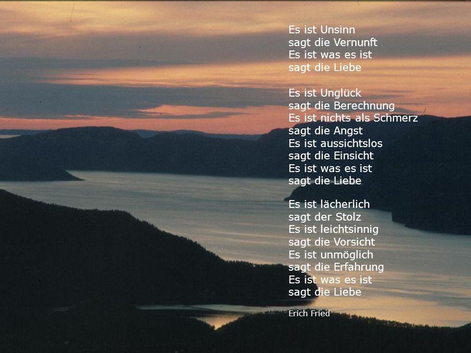 Sagt die fried gedicht liebe erich gesammelte Gedichte