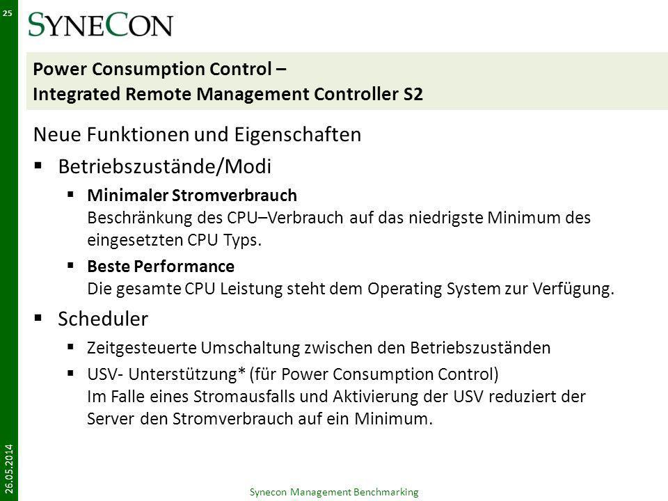 Power Consumption Control – Integrated Remote Management Controller S2