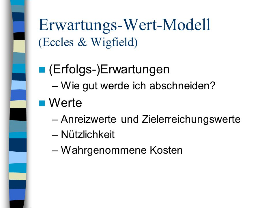 Erwartungs-Wert-Modell (Eccles & Wigfield)