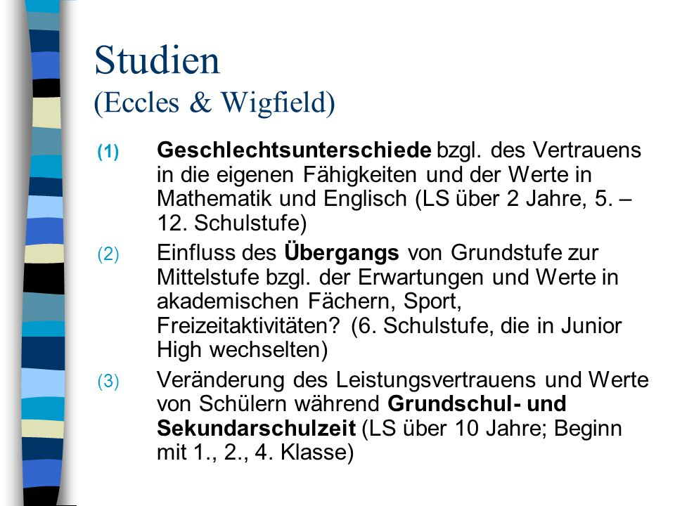 Studien (Eccles & Wigfield)