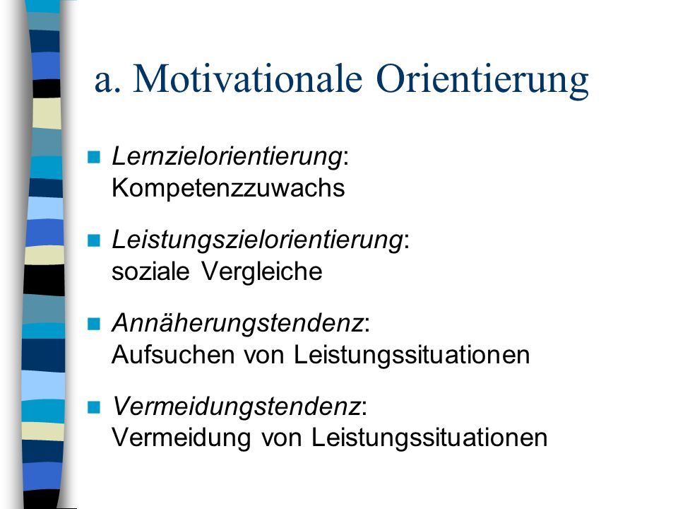 a. Motivationale Orientierung