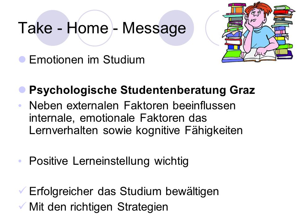 Take - Home - Message Emotionen im Studium