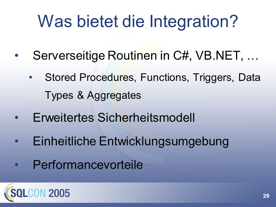 So geht's! Build VS .NET Projekt SQL Server VB,C#,C++ Assembly