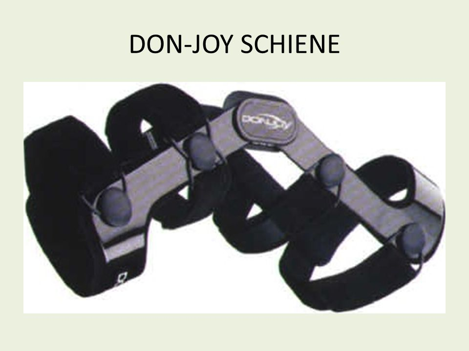 DON-JOY SCHIENE