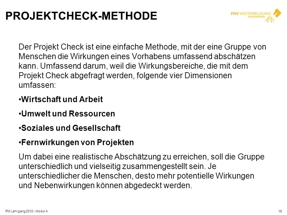 PRojektcheck-Methode