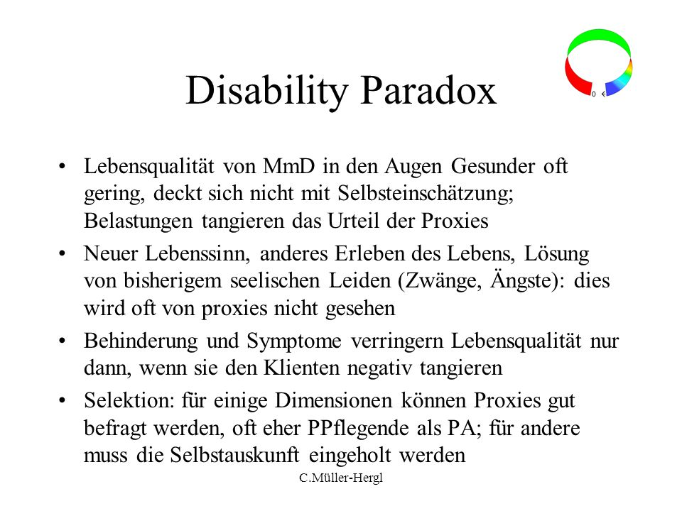 Disability Paradox