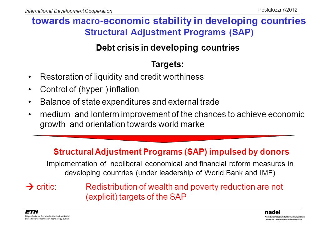 Debt crisis in developing countries