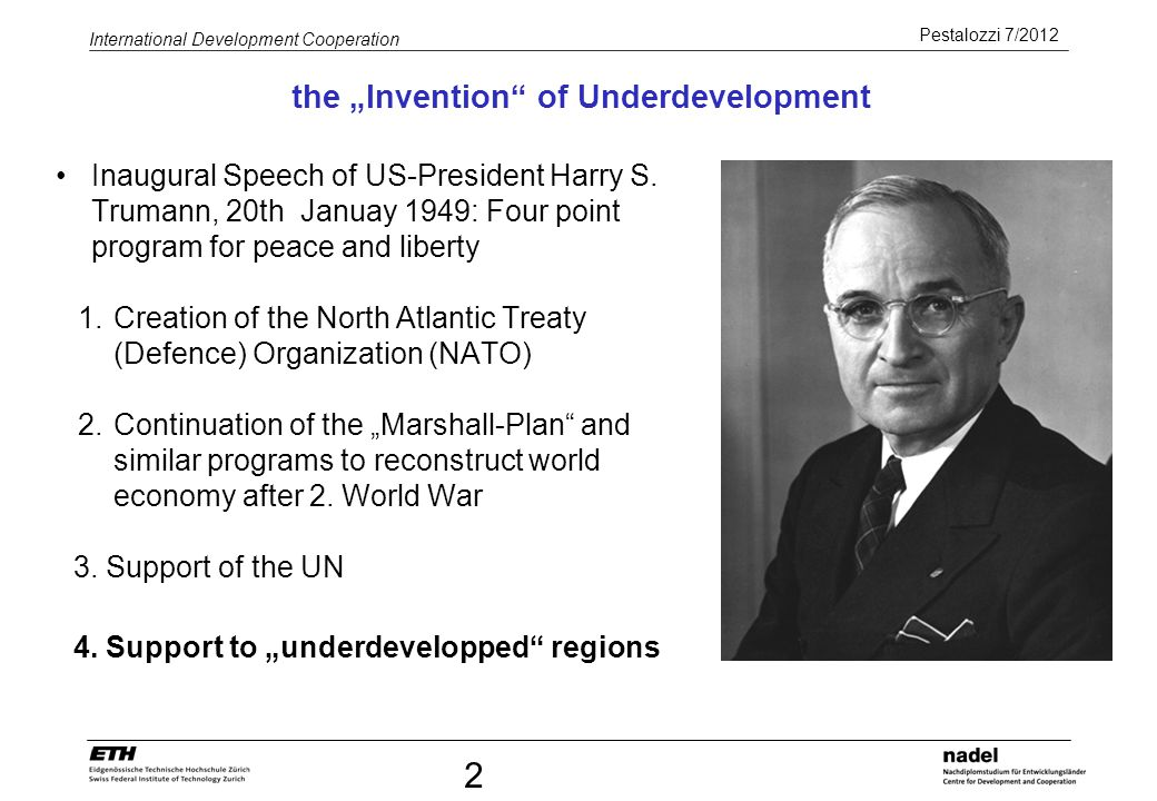 "the ""Invention of Underdevelopment"