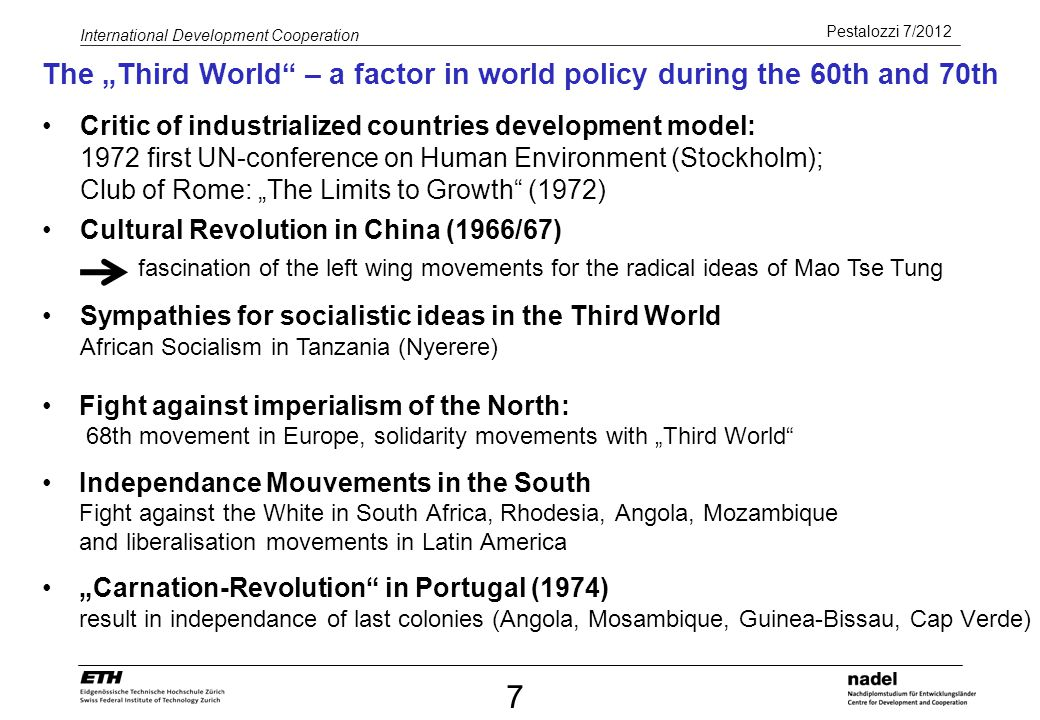 "The ""Third World – a factor in world policy during the 60th and 70th"