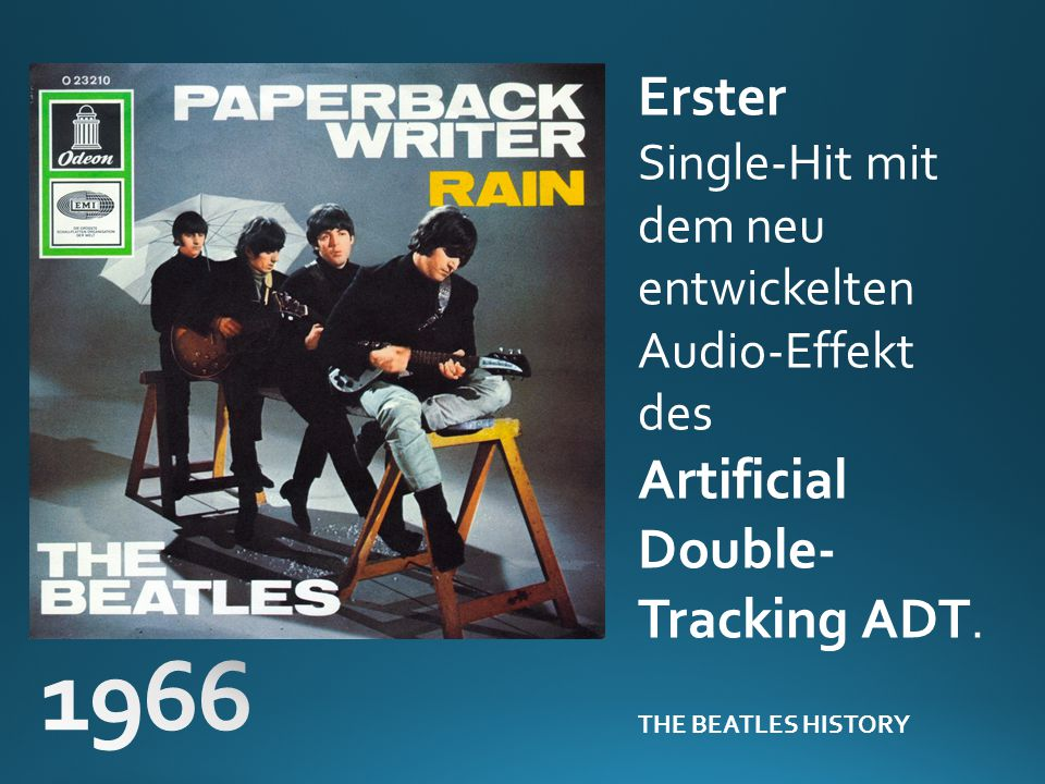 1966 Erster Artificial Double-Tracking ADT.