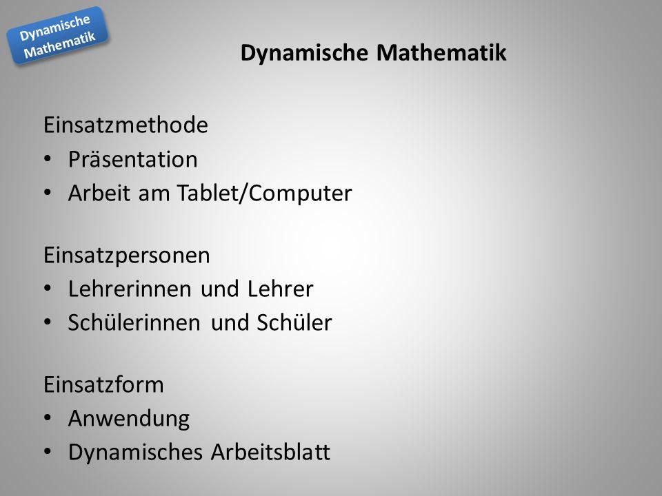 Lehren und Lernen mit Dynamische Mathematik - ppt herunterladen