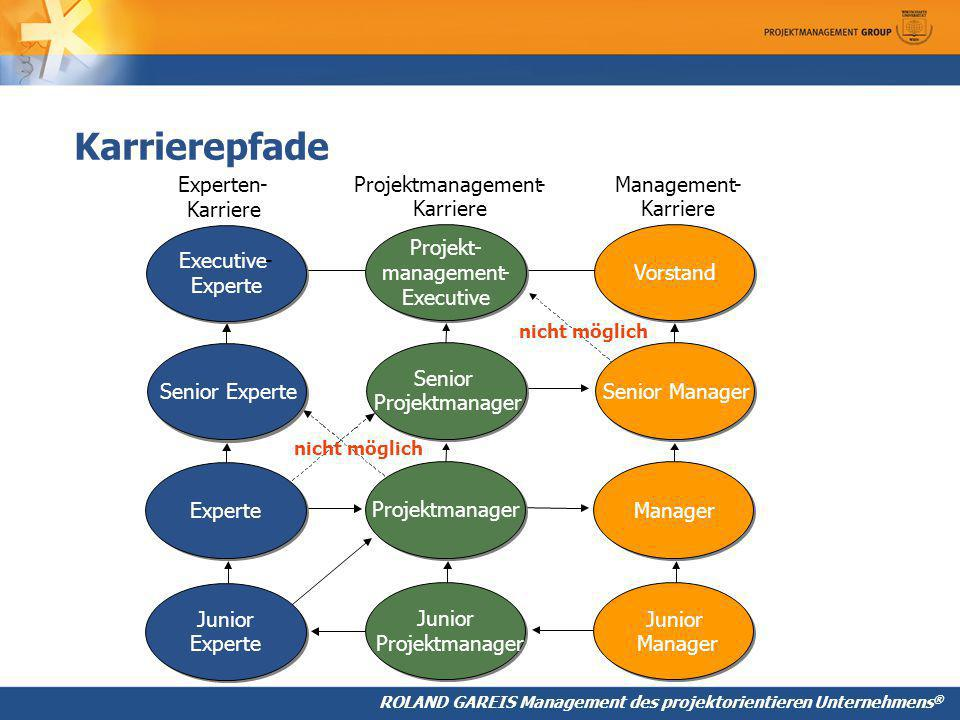 Karrierepfade Executive - Experte Senior Experte Junior Experten