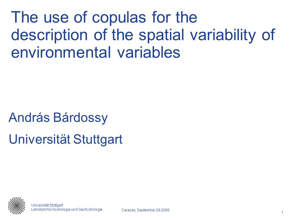 The use of copulas for the description of the spatial variability of environmental variables