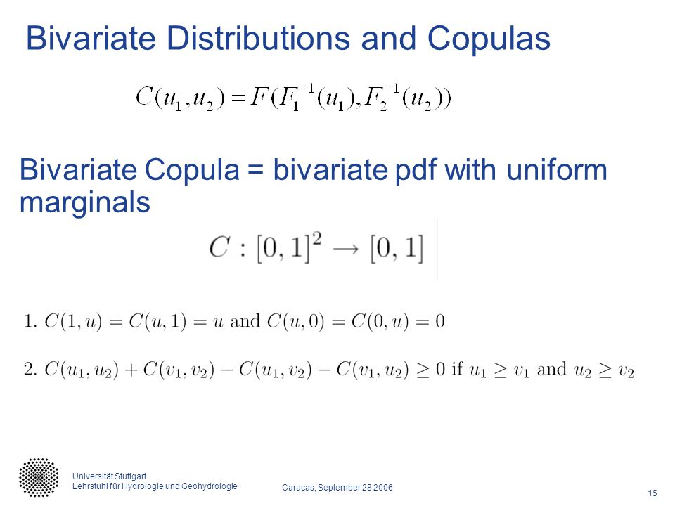 Bivariate Distributions and Copulas
