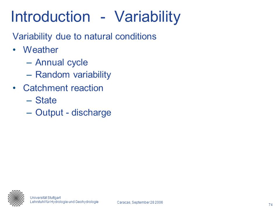 Introduction - Variability