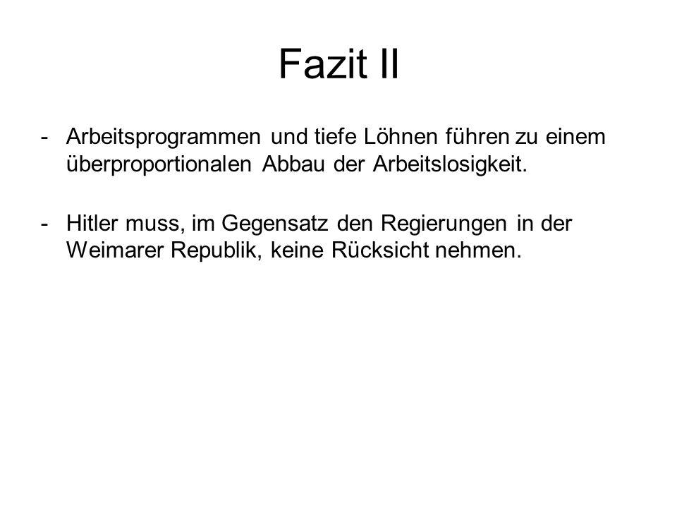 Wirtschafts Und Arbeitsmarktpolitik Im Nationalsozialismus Ppt