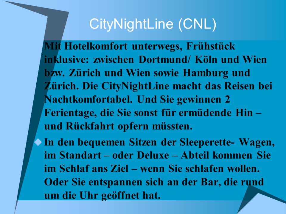 CityNightLine (CNL)