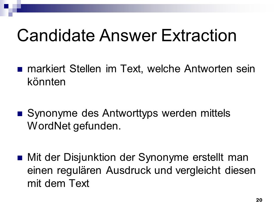 Candidate Answer Extraction