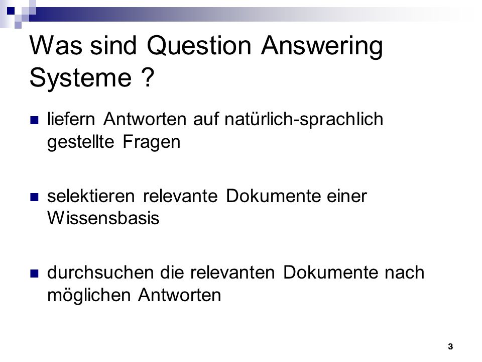 Was sind Question Answering Systeme