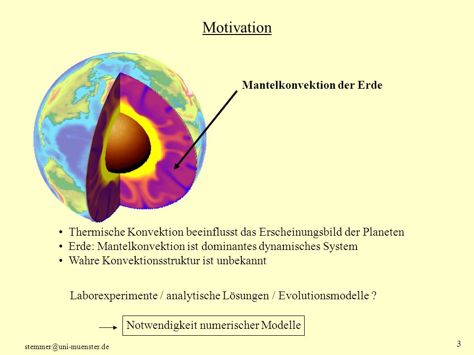 Motivation Mantelkonvektion der Erde