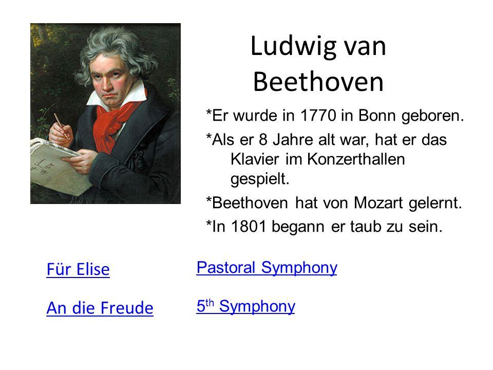 ludwig van beethoven fr elise an die freude - Beethoven Lebenslauf