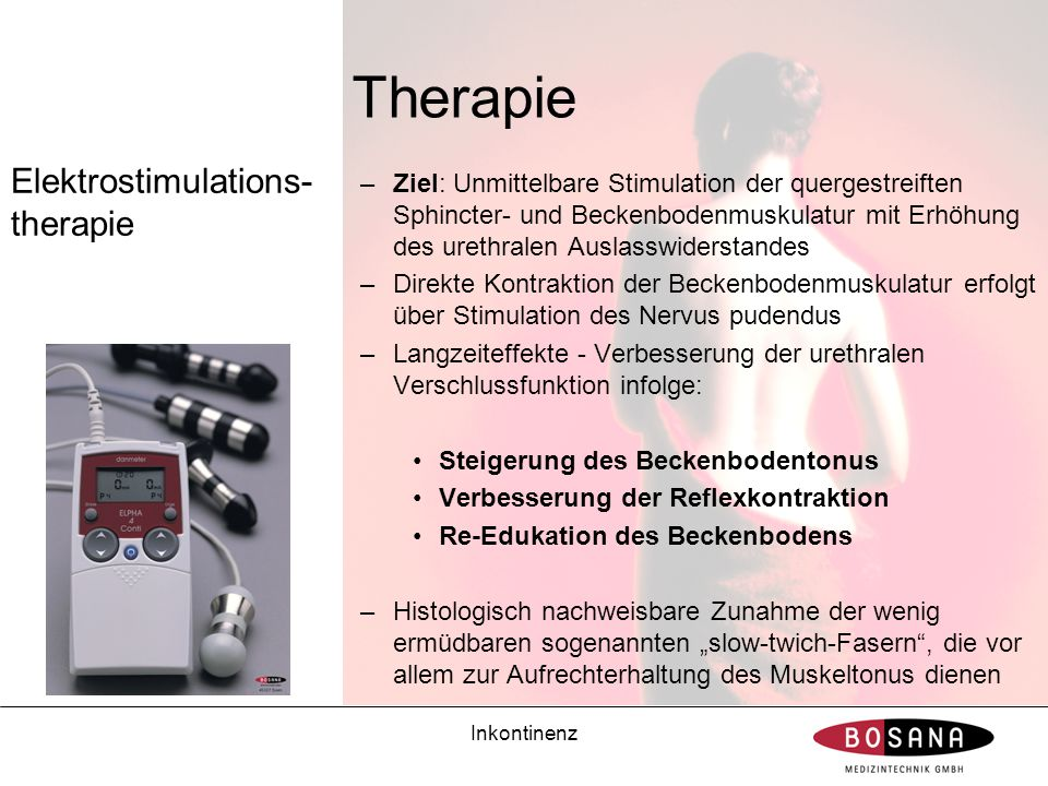 Therapie Elektrostimulations-therapie
