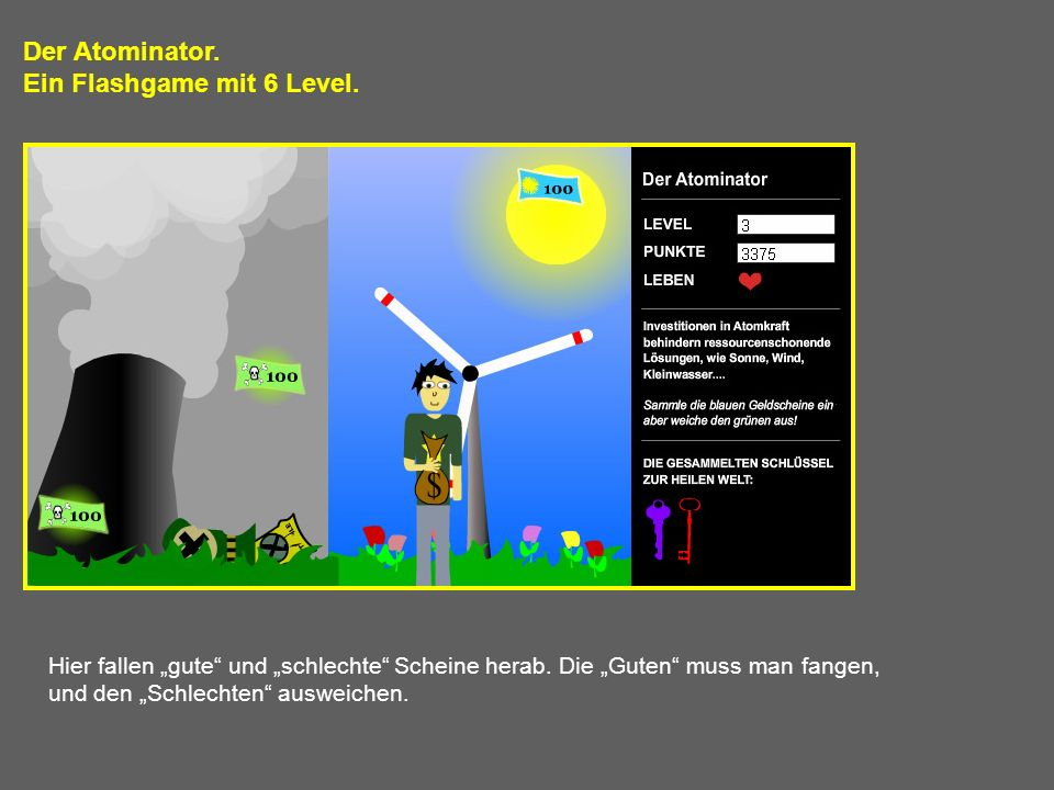 Ein Flashgame mit 6 Level.