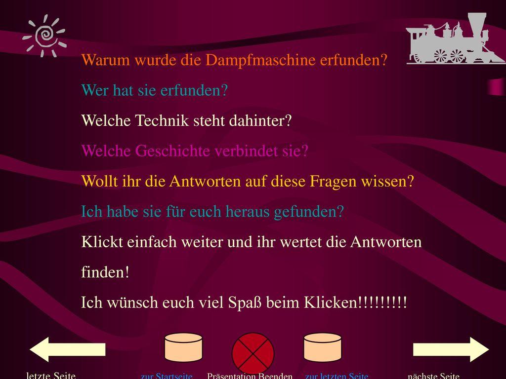 Deckblatt Fach Physik Thema Alltagsphysik Die Dampfmaschine