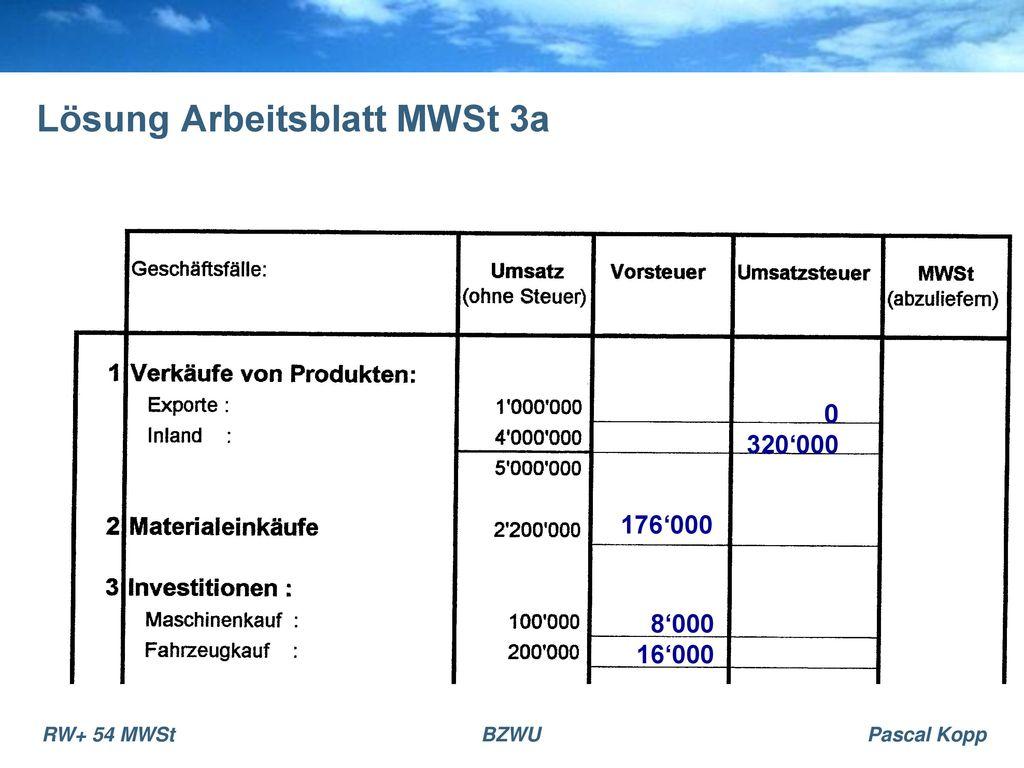 Einführung MWSt. - ppt herunterladen
