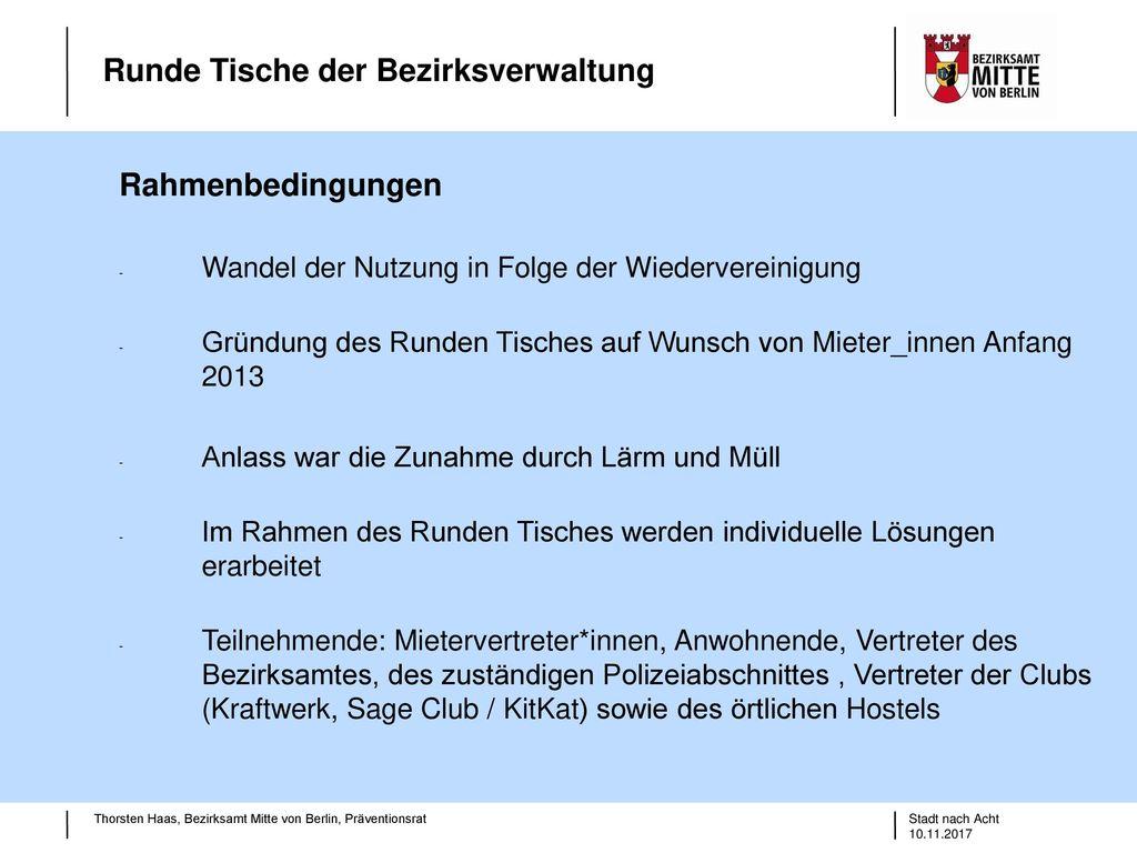 Rahmen Im Rahmen der Präventionsräte der Bezirke gibt es Berlin ...