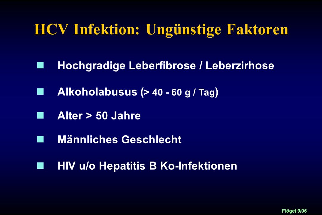 HCV Infektion: Ungünstige Faktoren
