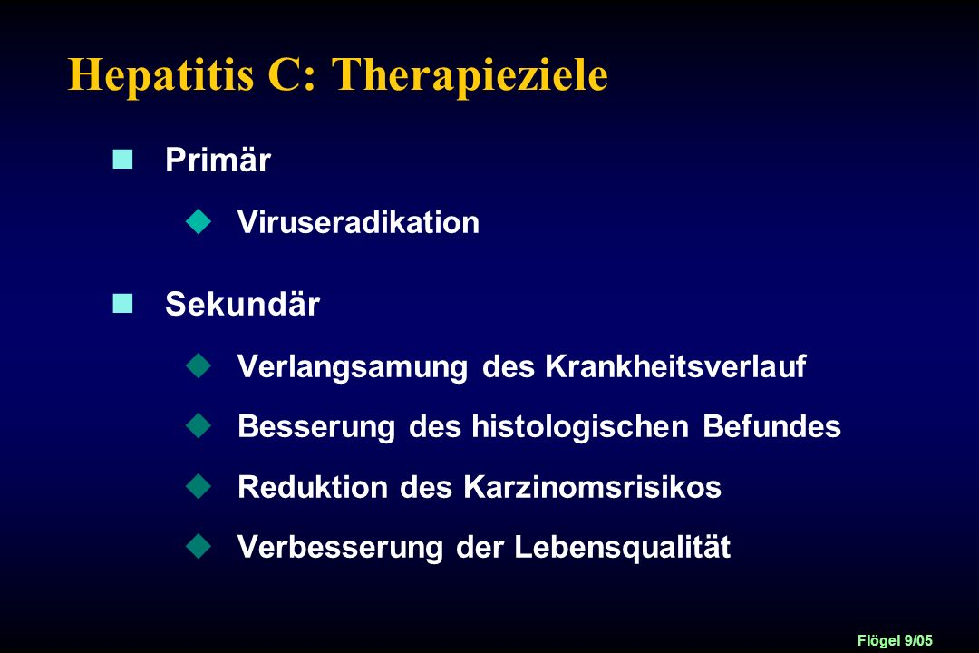 Hepatitis C: Therapieziele