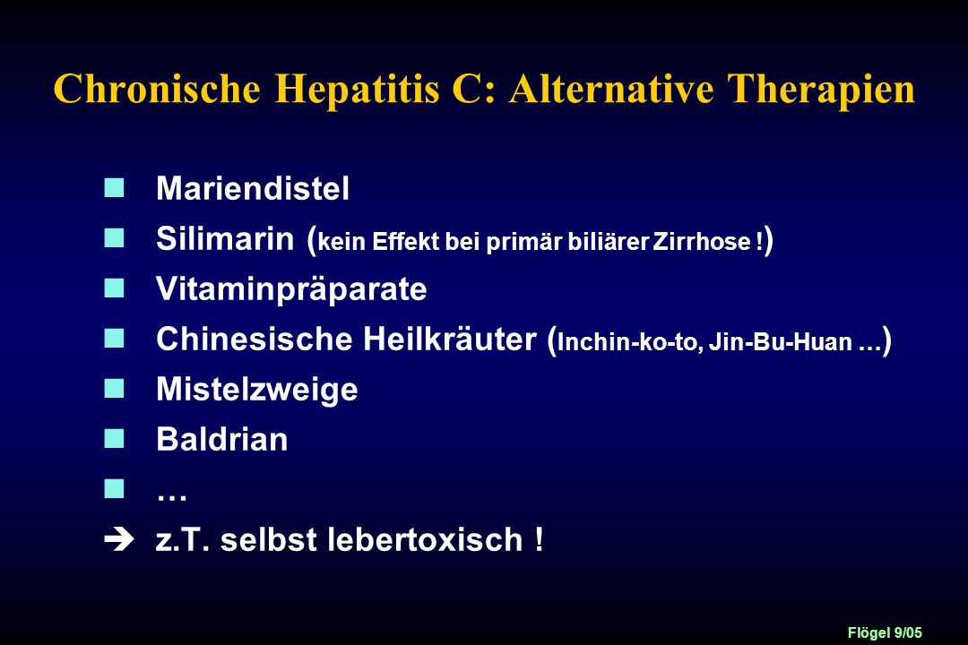 Chronische Hepatitis C: Alternative Therapien