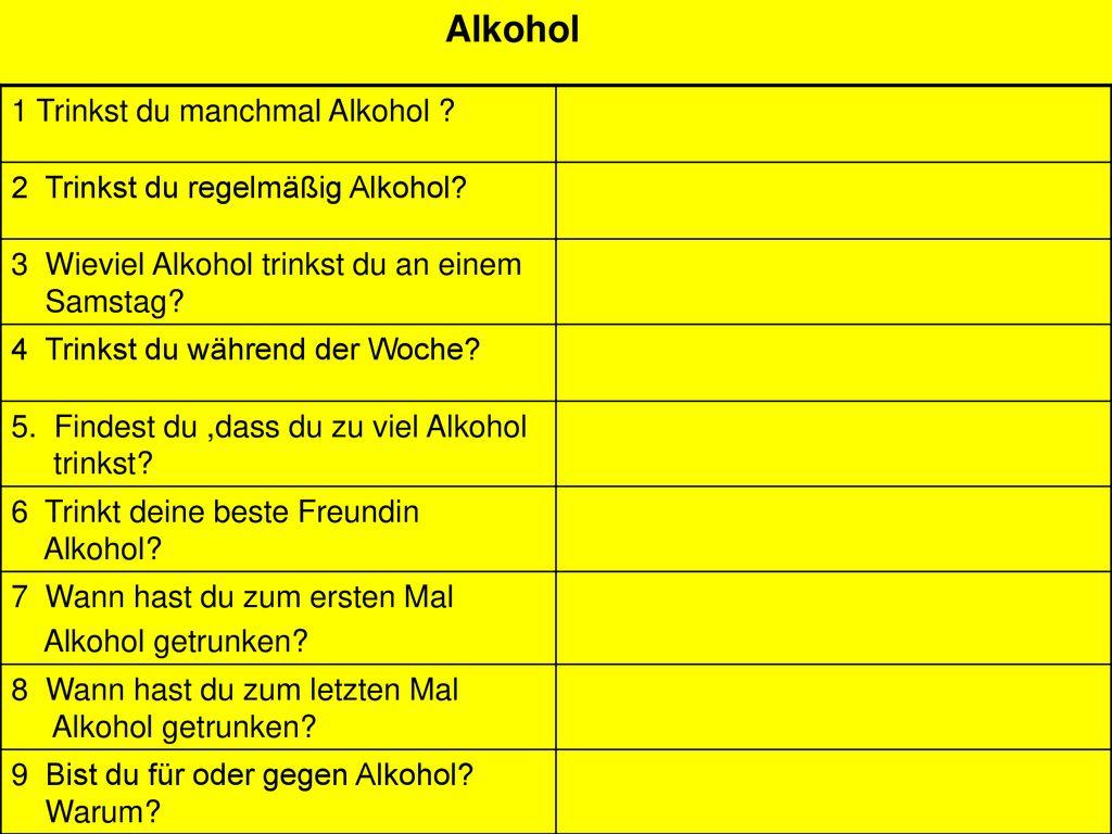 wieviel alkohol ist zuviel