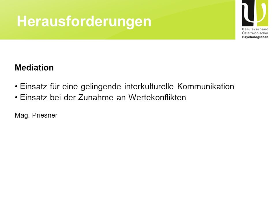 Herausforderungen Mediation