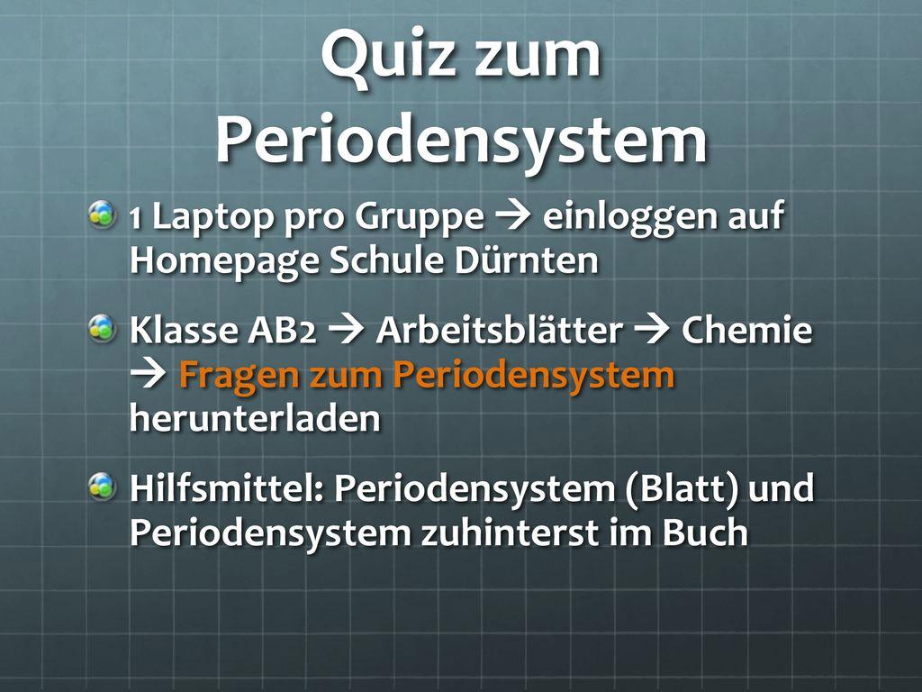 Periodensystem & Atommodell - ppt herunterladen