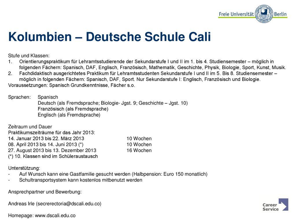 Auslandspraktikum an Deutschen Schulen - ppt herunterladen