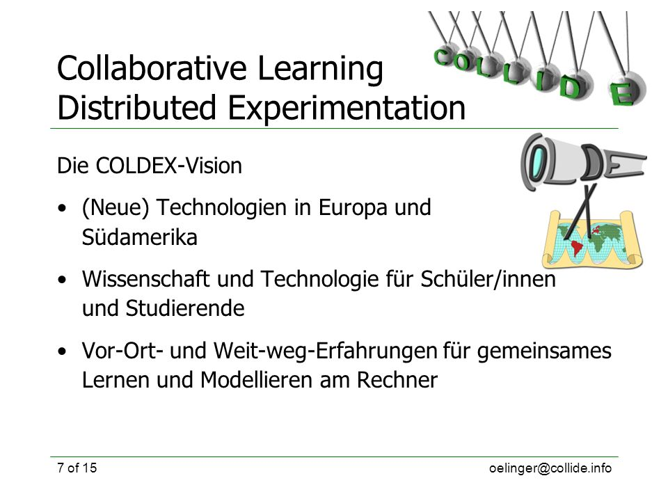 Collaborative Learning Distributed Experimentation