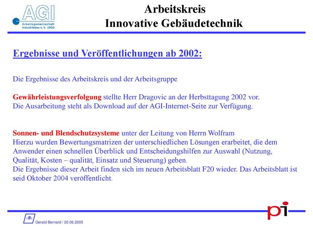 AGI Regionalkreis RheinRuhr - ppt herunterladen