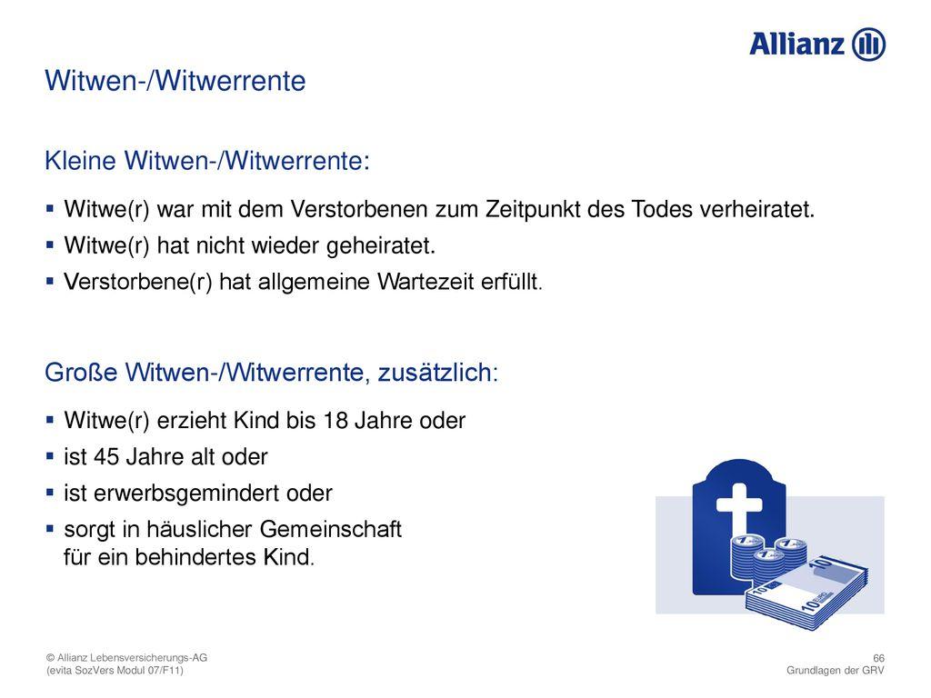 66 Witwen-/Witwerrente ...