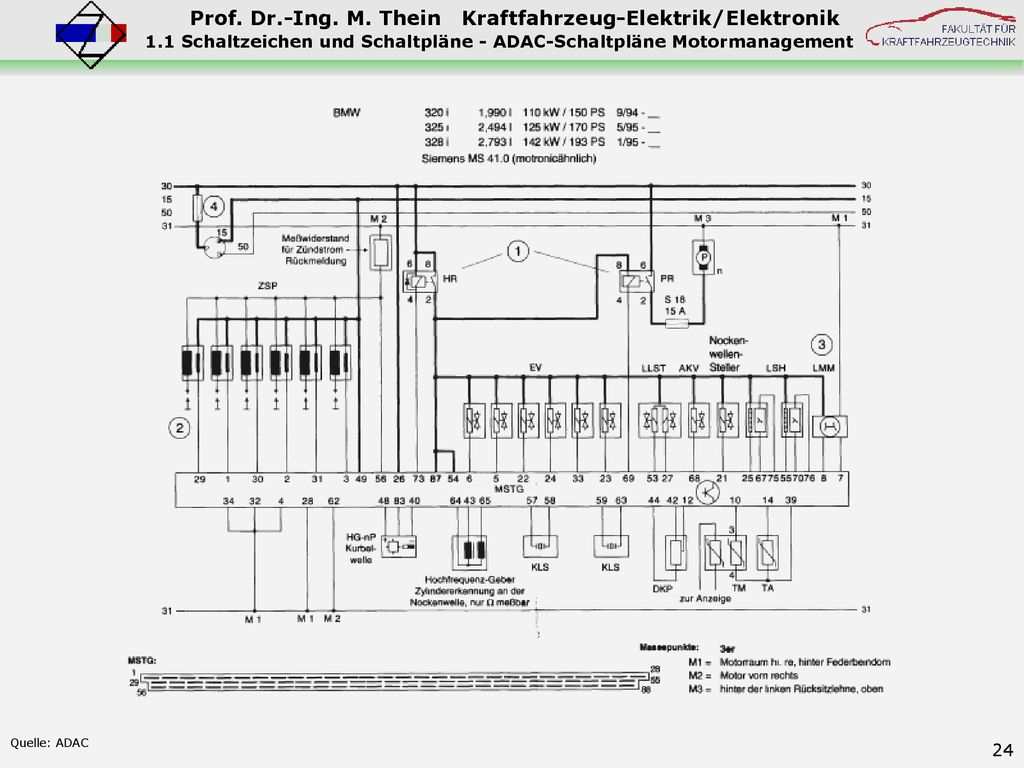 1 Bordnetz 1.1 Schaltzeichen und Schaltpläne 1.2 Leitungswiderstände ...
